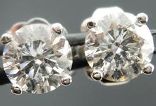 SOLD....Diamond Earrings: .82ctw Four Prong Studs Spade Family Fantastic Cut R4099