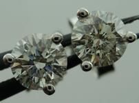 SOLD...Diamond Earrings: .56ctw Martini Studs Spade Family Fantastic Cut R4101