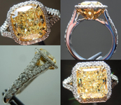 Semi Mount: Remarkable Split Shank Floral Halo Ring Micro-set Masterpiece SO3636