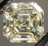 SOLD.....Loose Diamond: 1.24ct Asscher Cut Fancy Light Yellow VS2 GIA Beautiful Steps R4209