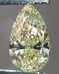 SOLD....Loose Diamond: 1.01ct Pear Shape Fancy Brownish Greenish Yellow VS1 GIA Cool Color R4216