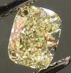 SOLD....Loose Diamond: .72ct Cushion Cut Fancy Light Yellow VS1 GIA Beautiful Crushed Ice R4232
