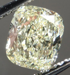 SOLD....Loose Diamond: 1.16ct Cushion Cut Y-Z, Natural Light Yellow SI2 Great Cut R4230