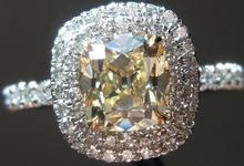 1.08ct Y-Z VVS2 Branded Old Mine Brilliant Diamond Ring R4066