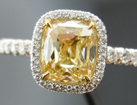 """SOLD: DBL Branded Antique Cut for Color Antique Style Cushion Single Cut """"Uber"""" Ring"""