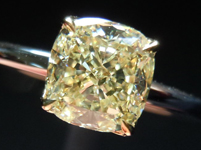 """SOLD.... Diamond Ring: 1.17ct Cushion Cut W-X VS2 GIA Hand Made Platinum and 18K Yellow Gold """"Ultra-Flower"""" R4249"""