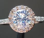 SOLD...Diamond Ring: .71ct Round Brilliant J/VVS1 GIA Strong Blue Flourescence R4312