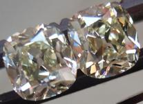 SOLD....Matching Diamonds: 1.26ctw Old Mine Brilliant Antique Style - Modern Precision R4305