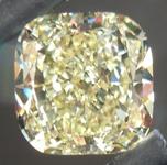 SOLD.... Loose Diamond NOW SET IN 3 STONE RING: 1.57ct Cushion Cut Fancy Light Yellow SI1 GIA Beautiful Cut R4372