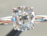 """SOLD.....Diamond Ring: 1.03ct Old Mine Brilliant Cut J/VS1 GIA """"Ultra Flower"""" Solitaire R4323"""