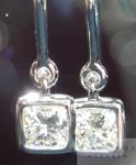 SOLD....Diamond Earrings: 1.00ctw Cushion Cut H/VS1 Diamond Dangle Earrings R4361