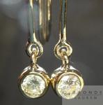 SOLD.....Diamond Earrings: .48ctw Round Brilliant W-X VS1 Diamond Dangle Earrings in 18K R4363