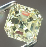 SOLD....Loose Diamond: 1.02ct Asscher Cut Fancy Light Yellow VS1 Diamond Beautiful Steps R1093
