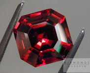 SOLD...Loose Malaya Garnet: Precision Cut 5.36ct Malaya Garnet Asscher Cut Amazing Stone R4410