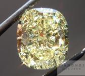SOLD....Loose Yellow Diamond: 4.13ct Cushion Cut Fancy Yellow SI1 GIA Wonderful Cut R4424