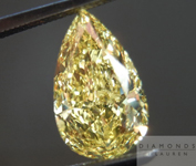 SOLD....Yellow Diamond: 1.69ct Pear Shape Fancy Intense Yellow SI2 GIA Strong Color R4422