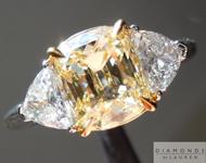 1.66ct Y-Z SI1 Cushion Cut Diamond Ring GIA R4448