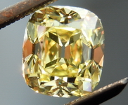 SOLD.....Yellow Old Mine Diamond: 1.31 Branded Dbl Cut for Color Modern antique Diamond GIA R4445