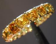 SOLD.....Vivid Orange Asscher Diamond Wedding Band: 4.78ct Asscher Cut Wedding Band 18kt R4404