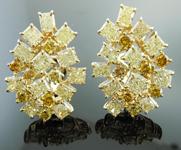 SOLD....Yellow, Orange and Brown Diamond Earrings: 8.83ctw Fancy Brown Orange Yellow Assorted Cluster Earrings R3824