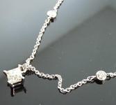 Princess Cut Diamond Necklace: .37ct M/VS Princess Cut Diamonds by the Yard R2489