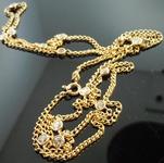 SOLD....Diamond Necklace: 2.69ct Rich Yellow Gold Necklace Bezel Set Diamonds R4394