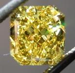 SOLD....Vivid Yellow Diamond: 1.21ct Fancy Vivid Yellow Radiant Diamond GIA Pure Color R4487