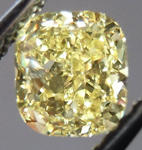 SOLD....Yellow Cushion Cut Diamond: .77ct Fancy Intense Yellow VS2 Cushion Cut GIA Lovely Stone R4533