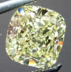 SOLD.... Yellow Cushion Cut Diamond: 1.01 Fancy Yellow SI2 Cushion Cut GIA Beautiful Cut R4534