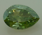 Vivid Yellowish Green Diamond: .63ct Incredibly Rare Pear R4547