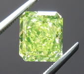 Fancy Vivid Green Yellow Diamond: 1.92ct One of a kind Kryptonite Color GIA R4548