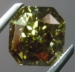 Green Chameleon Diamond: 2.00 Radiant Fancy Dark Gray Yellowish Green GIA R4549