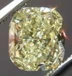 SOLD....Yellow Cushion Cut Diamond: 1.42ct Fancy Light Yellow VS1 Cushion Cut GIA Beautiful Cut R4600
