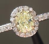0.59ct Fancy Yellow VS2 Cushion Cut Diamond Ring R4612