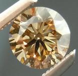 SOLD....Orange Brown Diamond: .46ct Fancy Orange Brown VS2 Round Brilliant Lively Stone R4617