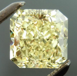 SOLD....Yellow Radiant Cut Diamond: 1.13ct Fancy Light Yellow VS2 Radiant Cut GIA Strong Color R4638