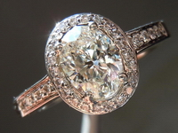 SOLD....Oval Diamond Ring:: 1.00ct Micro-halo ring bargain for size 7.75 finger R880