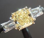 SOLD....1.26ct Fancy Light Yellow VS2 Radiant Cut Diamond Ring R4604