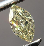 SOLD....Yellow Marquise Diamond: .17ct Fancy Yellow VS1 Marquise Great Sparkle R4668