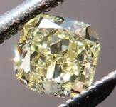 SOLD.....Yellow Cushion Diamond: .27ct Fancy Yellow VS1 Cushion Cut Diamond Great Shape R4674
