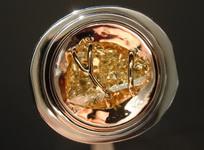 SOLD...MEN'S RING Horse Head Diamond: Incredibly Rare 1.63 Yellow Horse Head R4585