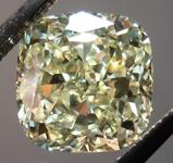 SOLD...Yellow Cushion Diamond: 1.64ct Y-Z, Natural Light Yellow VVS2 Cushion Cut GIA Gorgeous Cut R4694