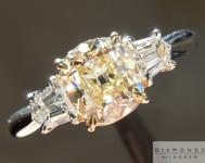 SOLD.......Yellow Old Mine Diamond: 1.07ct W-X/VVS2 Branded DBL Modern Antique Diamond GIA R4769