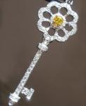 0.16ct Vivid Yellow SI1 Round Brilliant Diamond Pendant R4799
