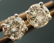 SOLD...Diamond Earrings: .82cts I-J I1 Round Brilliant Diamond Stud Earrings R3409