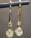 SOLD....Diamond Earrings: .37cts M/VS1 Round Brilliant Bezel Diamond Dangle Earrings R4420