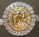 0.38ct Brownish Yellow SI2 Round Brilliant Diamond Ring R4826