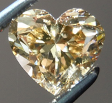 SOLD.....Brown Yellow Diamond: .89ct Fancy Dark Brown-Yellow I1 Heart Shape GIA Lively Stone R4828