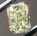 SOLD.....Loose Yellow Diamond: .37ct Fancy Light Yellow VS1 Radiant Cut Lovely Sparkle R4834