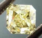 SOLD...Loose Yellow Diamond: .37ct Fancy Yellow VS1 Radiant Cut Strong Color R4837